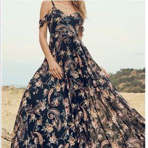 Lulu's Romantic Fantasy Floral Maxi Dress